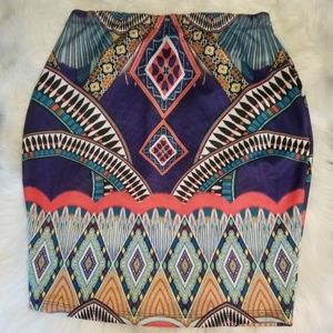 Forever 21 Abstract Print Skirt Size 2X